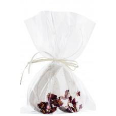 Inimă efervescentă pentru baie - geraniu şi trandafiri