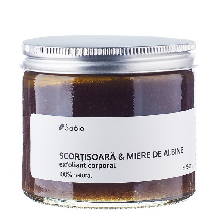 Exfoliant corporal - scorțișoară și miere de albine