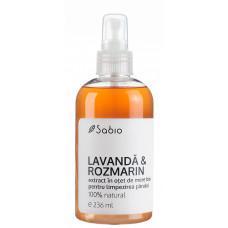 Extract din oţet de mere bio pentru limpezirea părului – Lavandă și Rozmarin