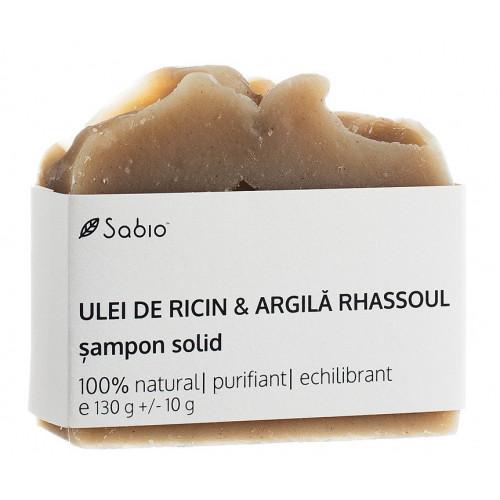 Şampon solid – Ricin și Argilă Rhassoul