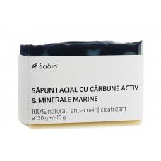 Săpun facial natural Cărbune activ şi minerale marine