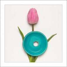 Savonieră turcoaz din ceramică