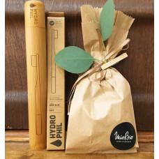 Set Etui si periuta de dinti din bambus