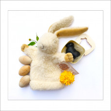 DUO adorabil: iepuraș din lână + săpun oiță