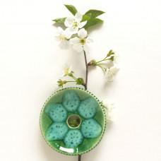 Savonieră verde din ceramică