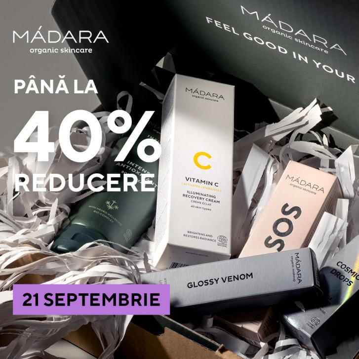 21 septembrie | 24h SALE MÁDARA SKINCARE & MAKEUP