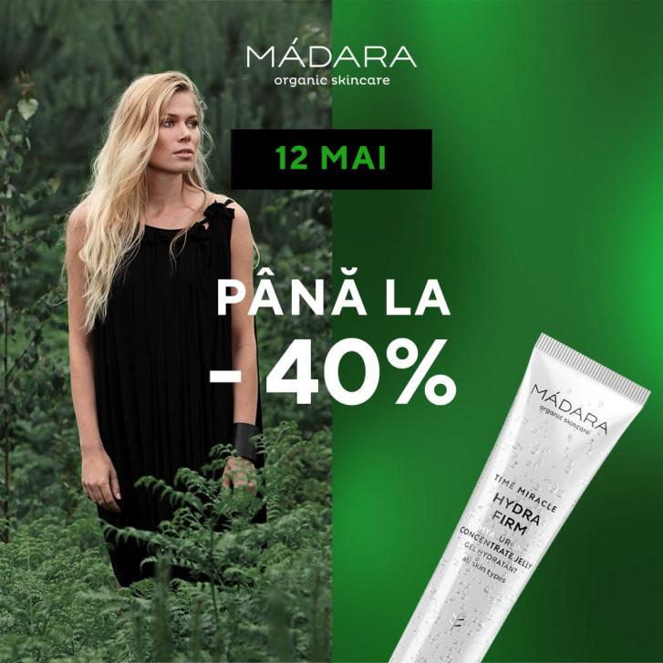 12 mai | 24h| reduceri de până la 40% la MÁDARA SKINCARE & MAKEUP