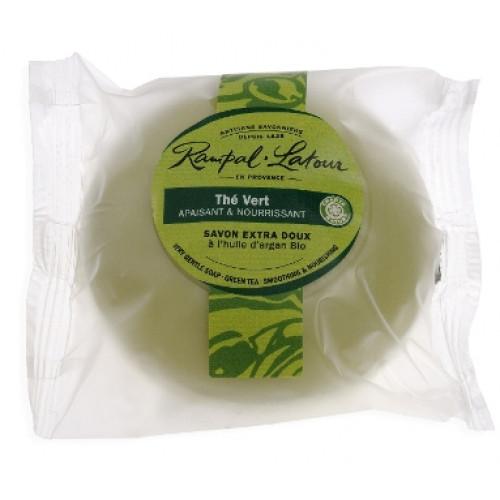 Săpun natural rotund ceai verde argan