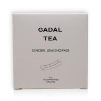 Ceai organic cu ghimbir și lemongrass (15 piramide)