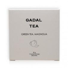 Ceai verde organic cu magnolie (15 piramide)