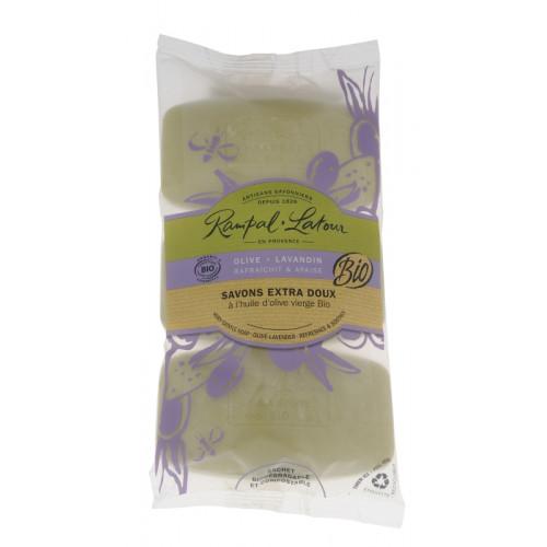 Pachet 3 săpunuri bio măslină lavandă