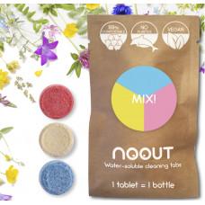 Mix tablete pentru curățare SUPRAFEȚE, BAIE, GEAMURI – zero plastic (refill 3 tablete)