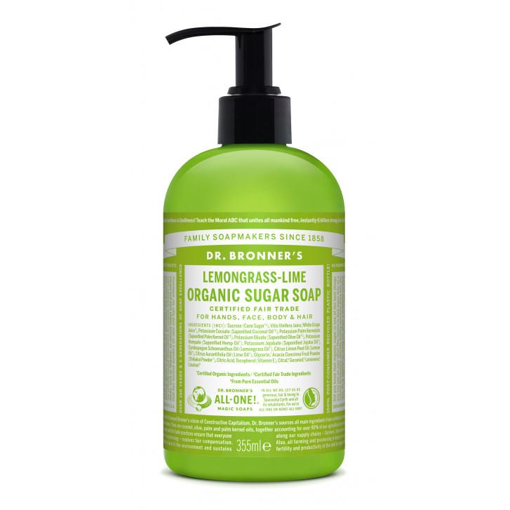 Organic Sugar Soap Lemongrass Lime - sapun lichid 4 in 1