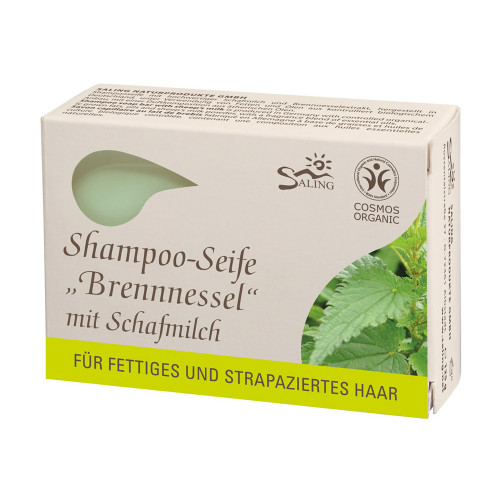 Șampon solid cu lapte de oaie și urzică (păr gras și/sau degradat)