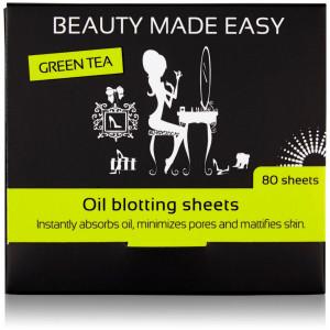 Foite matifiante cu ceai verde