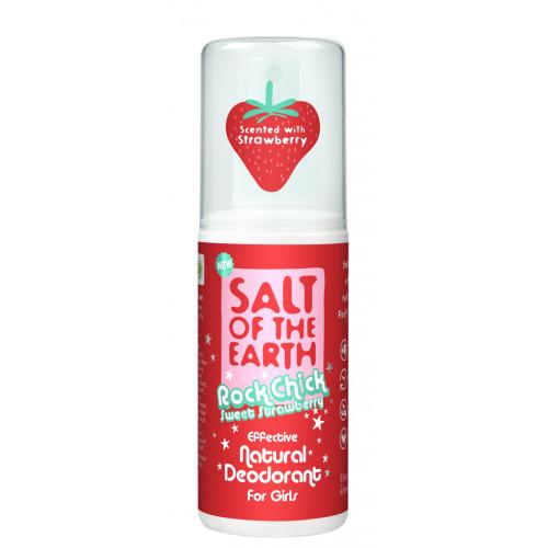 Deodorant natural Rock Chick SWEEN STRAWBERRY pentru fete - spray
