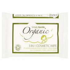 Servetele demachiante din bumbac organic 3in1, 25 buc.