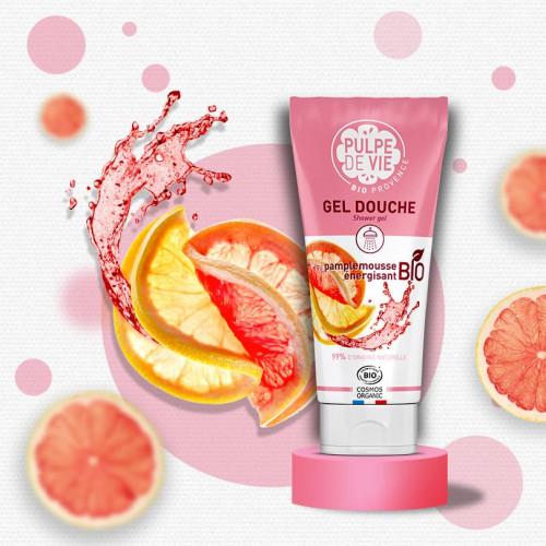 Gel de duș energizant cu grapefruit bio – PIMP MY MOUSSE