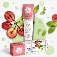 Pastă de dinți mentolată cu extract din struguri organici – FRESH KISS