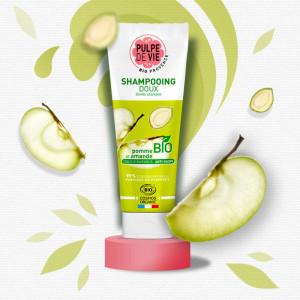 Șampon delicat cu măr și migdale bio POMPOMPIDOUX
