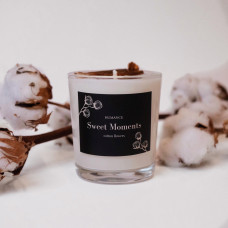 Lumânare cu flori de bumbac – Sweet Moments