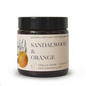 Lumânare naturală Sandalwood Orange