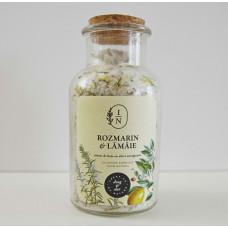 Sare de baie cu efect energizant | rozmarin și lămâie