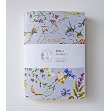 Set 4 carnețele cu motive botanice
