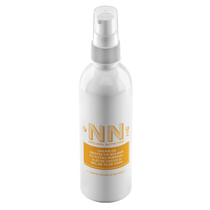 Crema de protectie solara cu filtru mineral, ulei de cocos si aloe vera SPF 30