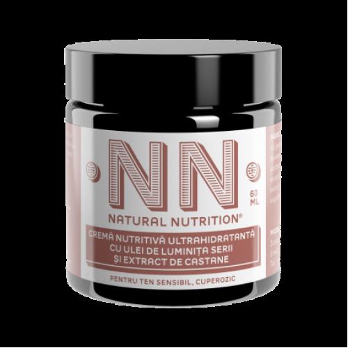Crema nutritiva ultra-hidratanta cu ulei de luminita serii si castane (ten sensibil / cuperoza)