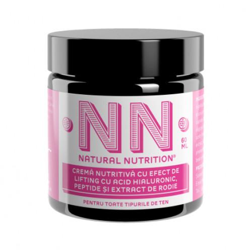 Crema nutritiva cu efect de lifting cu acid hialuronic, peptide si extract de rodie