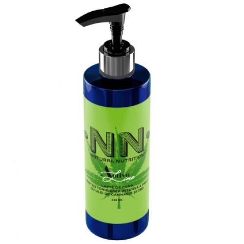 Lapte de corp pentru tonifierea intensă a pielii cu ulei de cannabis și CBD