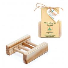 Handmade: Săpun lavandă & Savonieră din lemn