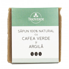 Săpun natural cu cafea verde şi argilă