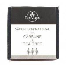 Săpun natural cu cărbune şi tea tree