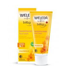 BABY Cremă facială hidratantă cu gălbenele
