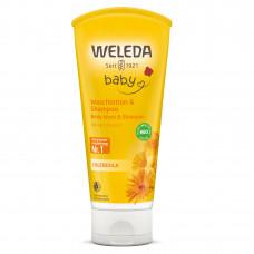 BABY Loțiune de curățare şi şampon cu gălbenele